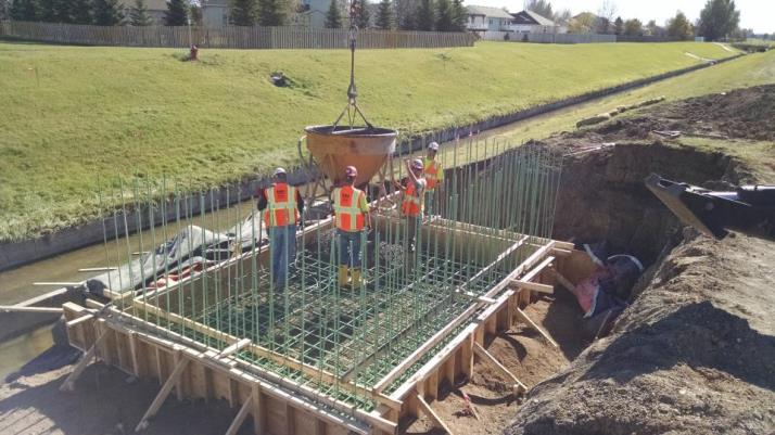 Laying the foundation for storm water structure