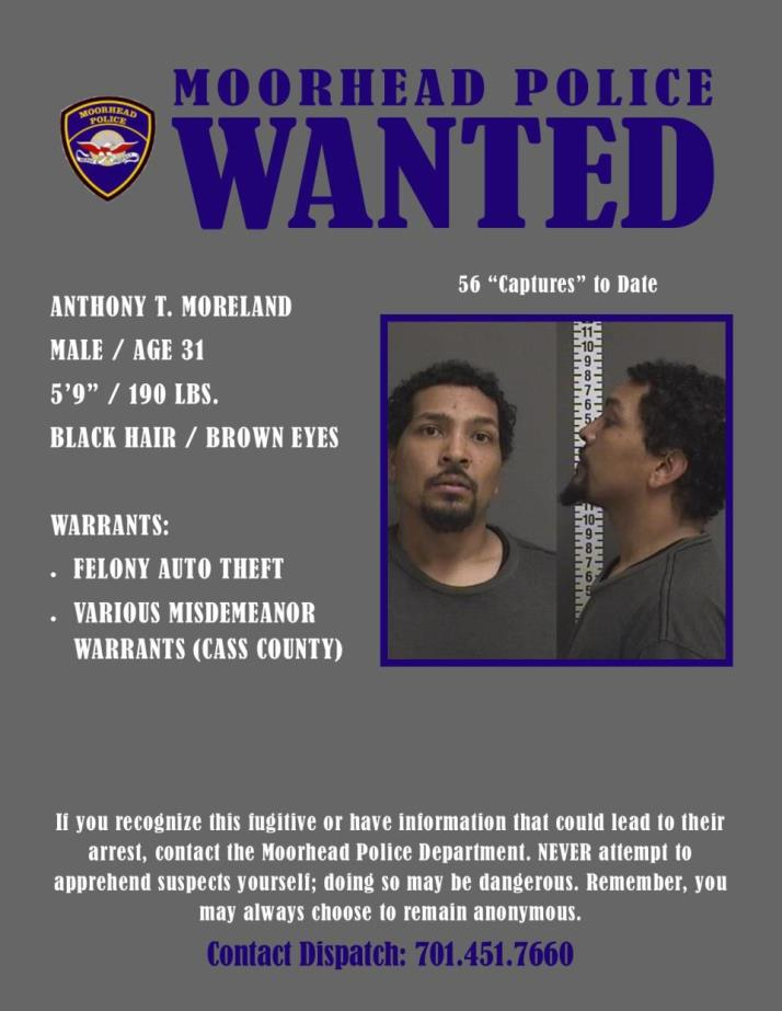 Wanted Wednesday November 14 - Moreland