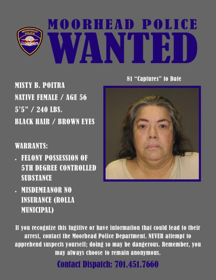 Wanted Wednesday May 15 - Poitra
