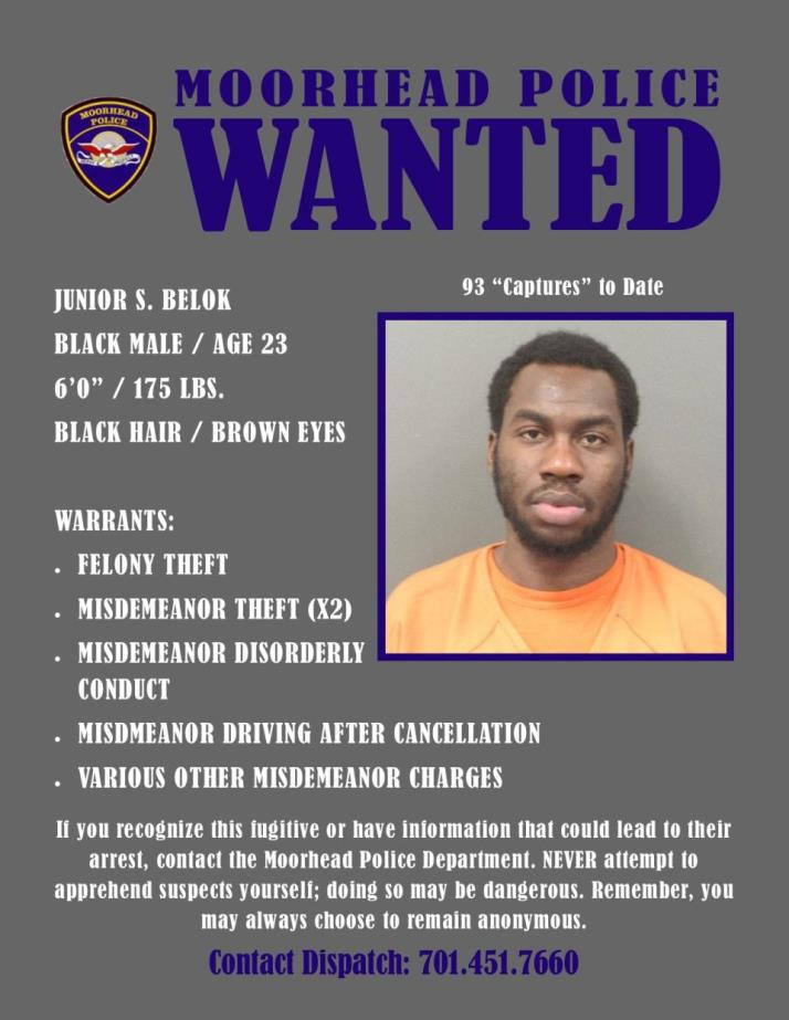 Wanted Wednesday July 24 - Belok