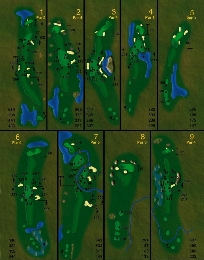 course layout holes